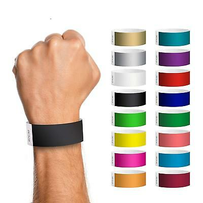 £21.99 • Buy 1000x Plain Coloured Tyvek Paper Security Music Club Festival Event Wristbands