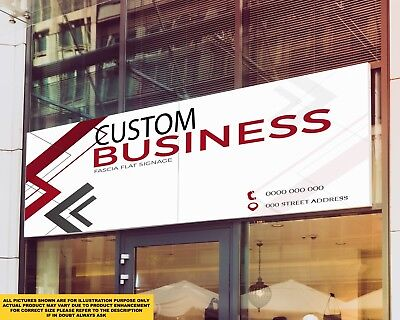 Business Front Shop Fascia Signage Colour Sign Printed Heavy Duty 4245 • 92.40£