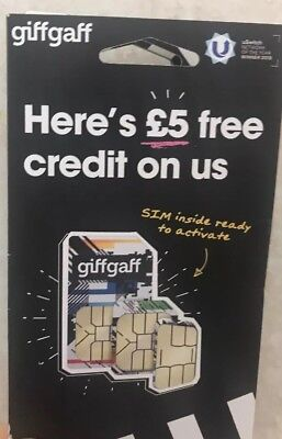 3 Giffgaff SIMS CARDS FOR ONLY 99p For Smart Phones 3G 4G Free Post!Same Day P&P • 0.99£