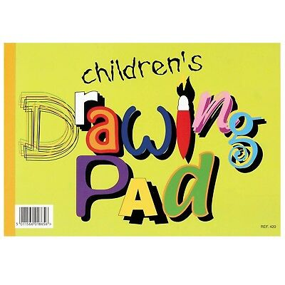 1/2/4/6/12 Silvine Kid's Drawing Sketch Pad 20 Page A4 Paper Arts Crafts Book • 4.49£