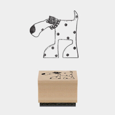 East Of India Rubber Stamp Oscar Dog 3 X 3cm Wood Backed New • 2.25£