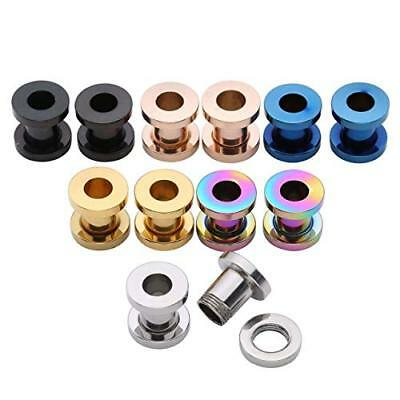 £2.25 • Buy Stainless Steel Screw Fix Double Flare Ear Tunnels Stretchers Tapers Plug 3-18mm