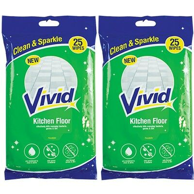 50 HARD FLOOR WIPES Kitchen Bathroom CITRUS FRESH Tile Stone Mop Duster Cleaning • 6.17£