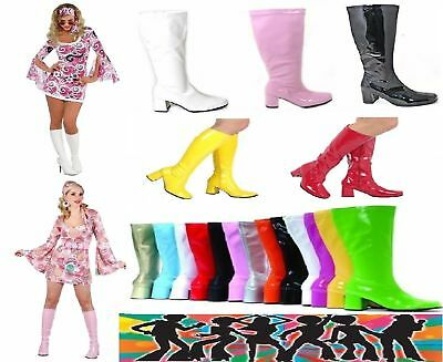 £22 • Buy New Women's Fancy Dress Sexy GoGo Knee High Boots Cool 60's 70s Party Sizes 3-12