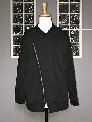 $ CDN52 • Buy Lululemon Mula Bundle Jacket 6 Telemark Black Stripe Euc wrap Jacket Asymmetric