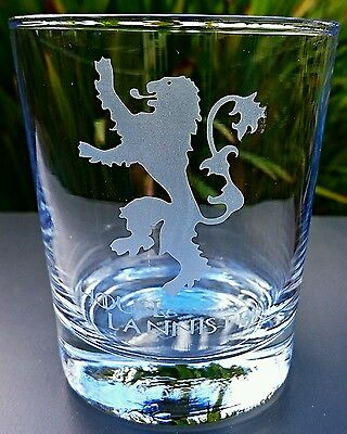 £5.99 • Buy Game Of Thrones Engraved Tumbler Glass - House Lannister
