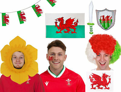 Football Great for St Davids Day Wales Flag Cape Rugby etc