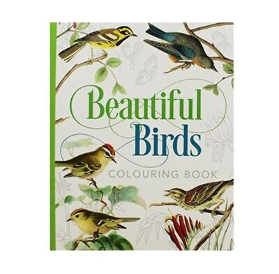 £7.99 • Buy Beautiful Birds Colouring Book For Adults - With Colour Guide By Arcturus