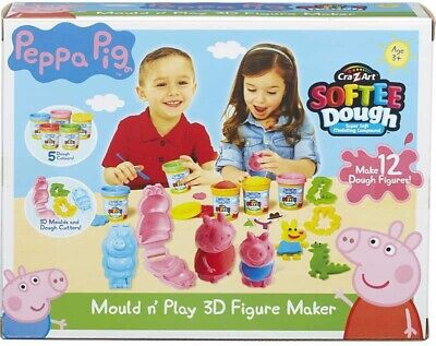 Peppa Pig Dough Mould And Play 3D Figure Maker  Multi-Colour New Girl Boys Gift • 22.99£