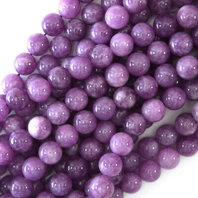 "$4.99 • Buy Purple Lepidolite Colored Quartz Round Beads 15.5"" Strand 4mm 6mm 8mm 10mm 12mm"