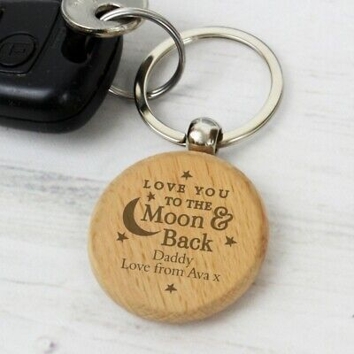 AU18.85 • Buy Personalised Keyring Engraved Wooden Valentines Mothers Day Gift For Her Him