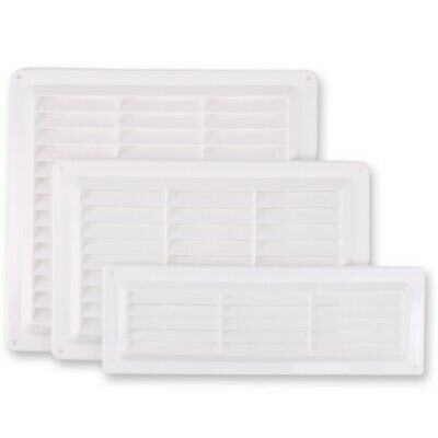 £2.72 • Buy Choose Size WHITE LOUVRE AIR VENT Brick Wall Ventilation Grille Cover Internal