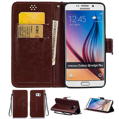 $ CDN14.41 • Buy Couple Leather Filp Stand Card Wallet Case Cover For Samsung Galaxy S6/edge/plus