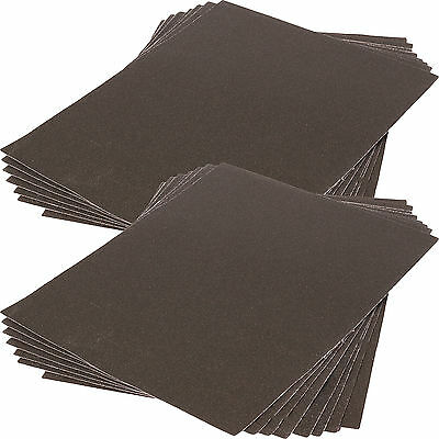 16 LARGE SHEETS OF EMERY CLOTH MIXED 60+100+150 GRIT SET Fine/Coarse Sandpaper • 6.67£