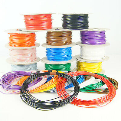 Single Core Stranded 12V 24V Cable Thin Wall Wire All AMP Ratings 11 Colours • 20.97£
