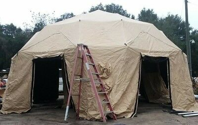 $4999 • Buy NEW US Military HDT Base-X Dome 6D31 Shelter System Tent 27x31' BIG FAST SET UP