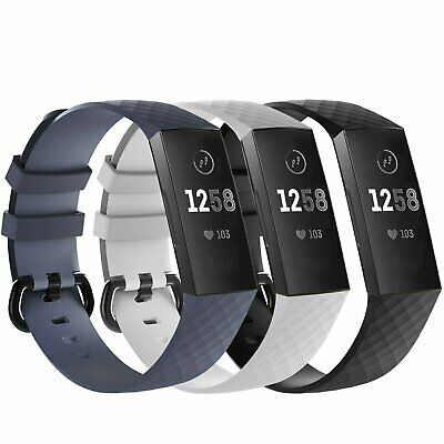 $ CDN10.65 • Buy Fitbit Charge 3 4  Replacement Bracelet Watch Band Heart Rate Fitness 3 PACK