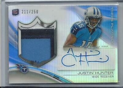 $16.99 • Buy Justin Hunter 2013 Topps Platinum Rpa Rookie 3 Color Patch Auto Rc #d 211/250