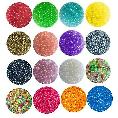 £3.99 • Buy 1000 Pcs Small Acrylic 4mm Spacer Beads - Choose Iridescent, Pearl Or Opaque