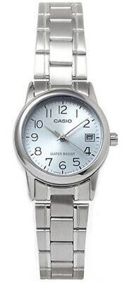 $ CDN31.27 • Buy Casio Women's Analog Quartz Blue Dial Stainless Steel Watch LTPV002D-2B