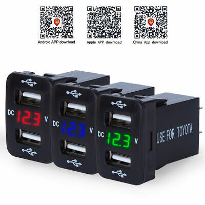 AU13.99 • Buy 4.2A Dual USB Ports Car Charger Socket Voltmeter Power Adapter 12V For Toyota