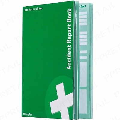 £4.71 • Buy ACCIDENT REPORT BOOK HSE Compliant GDPR Data Protection 1998 RIDDOR 20 Page A5