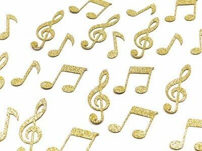 50 X Gold Glitter Musical Note Table Confetti Scatter Wedding Party, Music Clef • 4.25£