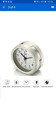 Alarm Clock, HQOON Cool Snooze Loud Wake Up Alarm Clocks For Bedrooms With Soft  • 7.78£
