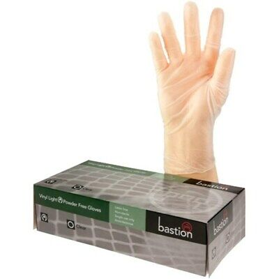 AU26.50 • Buy Bastion Vinyl Gloves Disposable Powder Free/Powdered Clear Free AU POST
