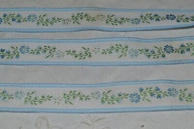 Haberdashery Old/ Braid Embroidered Patterns Small Flowers 26 M 60 / New • 47.40£