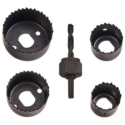 £5.11 • Buy 5Pc HOLE SAW KIT Metal 32mm - 54mm Circle Cutter Drill Wood/Plasterboard Ceiling