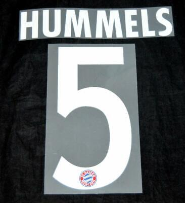 $10.44 • Buy Bayern Munich Hummels 5 Football Name/Number Set Sporting ID 2016/17/18 Adult