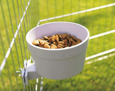 £11.66 • Buy Puppy Dog Crate Cage Hang Crock Stand Food & Water Feeding Bowl Dish Fit Station