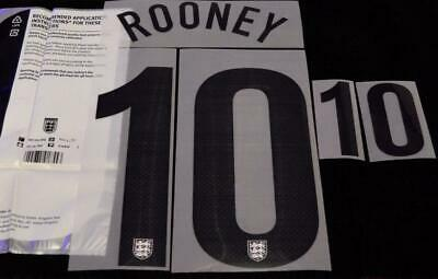 England Rooney 10 2013/14 Home Football Shirt Name/Number Set Sporting ID • 17.87$