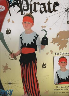 Boys Girls Pirate Fancy Dress Up Costume Book Week Childrens Buccaneer • 9.19£