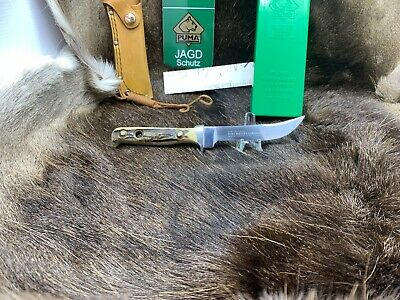 AU814.23 • Buy 1985 Vintage Puma 6394 Hunter's Companion' Knife With Stag Handles Mint In G/Y