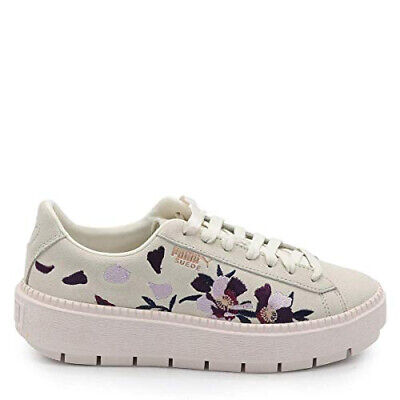 Sneakers Puma Suede Platform Trace Flowery White Mauve Morn Rose Gold  334510 01 • 79.99€ 288605a57