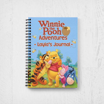 Personalised Winnie The Pooh Kids Children's A5 Notebook Notepad Journal Diary • 7.99£