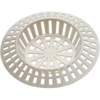 Small 1.5  WHITE SINK STRAINER Hair Trap Shower Plug Hole Cover Waste Stopper • 1.79£