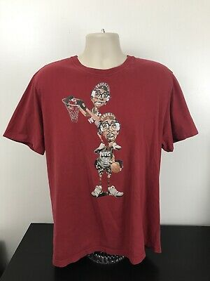 9f92818df1f4 Michael Jordan Mars Blackmon Brooklyn Red T Shirt Mens Size XL Spike Lee  Air EUC •