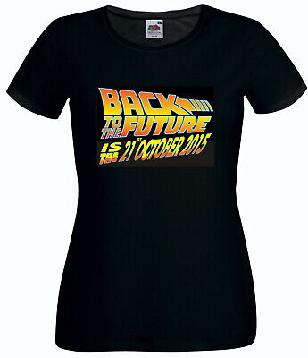 £5.99 • Buy Clearance Sale Back To The Future Movie Contour Fit Ladies T Shirt Large