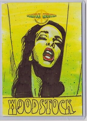AU39.99 • Buy Woodstock Generation Rock Poster Sketch Card Sketched By Jason Hughes J.joplin