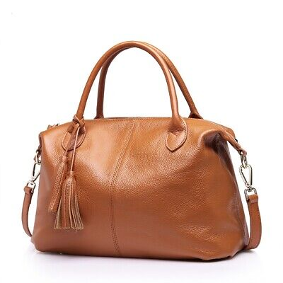 AU85 • Buy Women 100% Genuine Cow Leather Handbag Shoulder Messenger Hobo Bag Satchel Tote