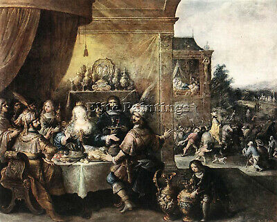 $ CDN292.10 • Buy Frans The Younger Francken  Ii Feast Of Esther Artist Painting Reproduction Oil