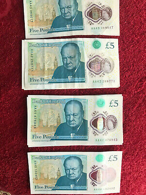 £8.55 • Buy £5 Plastic Polymer Five Pound Note AA 40- AA 49