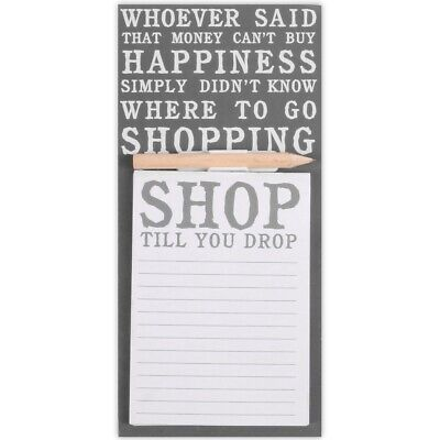 RETRO MAGNETIC SHOPPING LIST Fridge Magnet Lined Memo Note Board Message Pad • 4.01£
