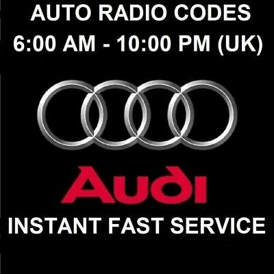 £6 • Buy Code Pin Radio Audi, Service Decode For All Rcd And Rns Audi, Fast Delivery Code