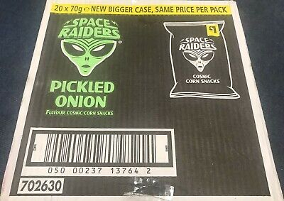 SPACE RAIDERS PICKLED ONION £1 BAG 78g -  BOX OF 16 PACKS £15.99  • 15.99£