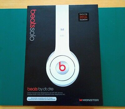 View Details Beats By Dr. Dre SOLO White On-Ear Headphones | OPENED NEVER USED • 59.99£