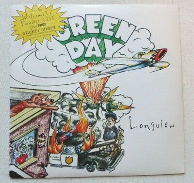 Green Day - Longview   UK 7  WITH RARE LIMITED STICKER SHEET • 24.99£